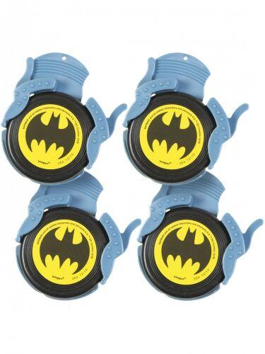 4 Lance-mini-disques Batman Taille Unique