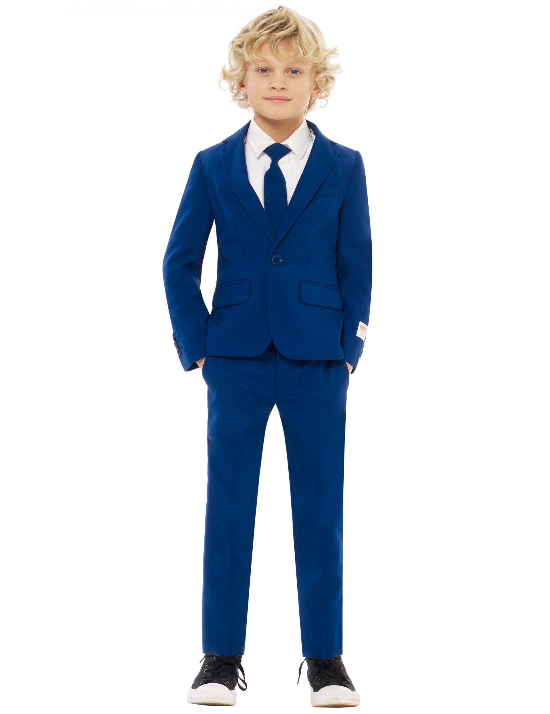 Deguisetoi Costume Mr. Bleu marine enfant Opposuits - Taille: 4-6 ans (98-104 cm)
