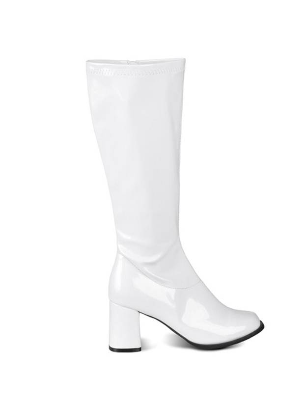 Deguisetoi Bottes blanches vernies femme