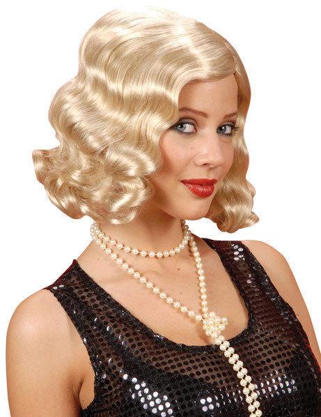 Deguisetoi Perruque ondulée années 20 blond