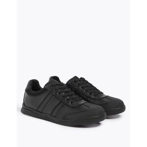 Marks & Spencer Chaussures enfants en cuir, idéales pour l'école (du 32 au 43) Black taille : EU 35 male