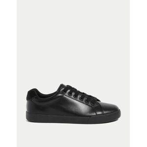 Marks & Spencer Baskets enfants en cuir Freshfeet™ (du 32 au 43) Black taille : EU 32 unisex