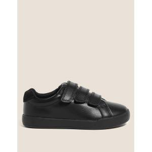 Marks & Spencer Baskets enfants en cuir Freshfeet™ (du 25,5 au 33) Black taille : EU 25.5 unisex