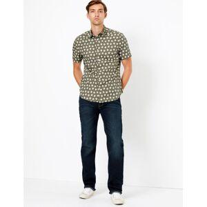 Marks & Spencer Jean extensible coupe droite, aspect délavé de style rétro Blue/Black taille : 46 (91cm de tour de taille) male