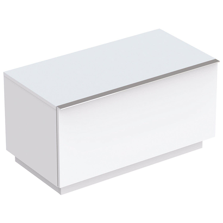 Geberit iCon Seitenschrank mit einer Schublade, bodenstehend weiß matt (lack) 841090000