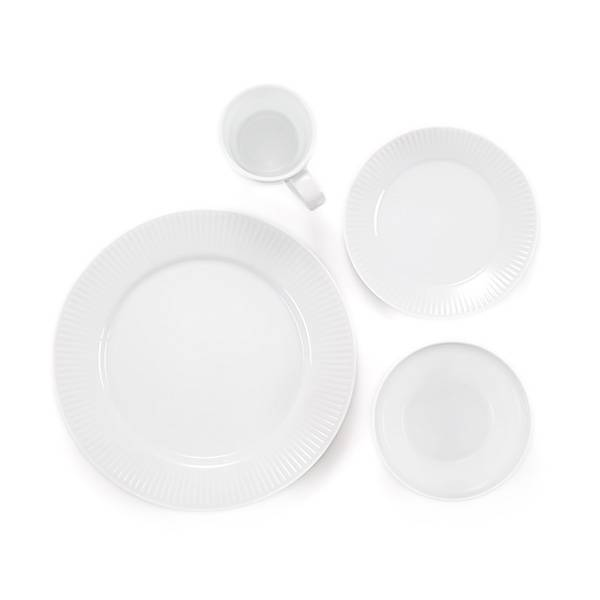 Bodum DOURO Assiettes plate ø 28 cm, Porcelaine Blanc