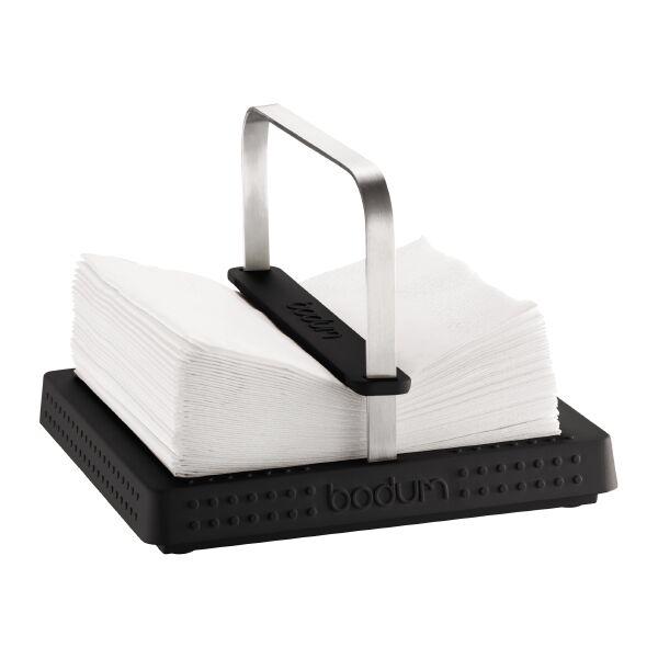 Bodum BISTRO Porte serviettes, 20 x 20 cm Noir