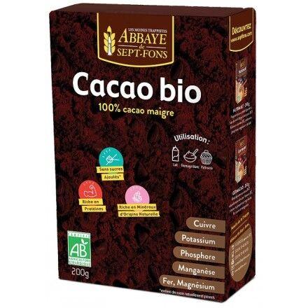 Abbaye de Sept-Fons Cacao Bio Pur - 200g - Abbaye De Sept-fons