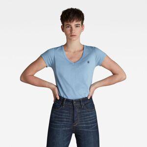 G-Star RAW Femmes Haut Eyben Slim V-Neck Bleu moyen - M XL S XXS XS L
