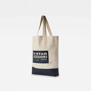 G-Star RAW Hommes Sac shopper Canvas Beige - one size