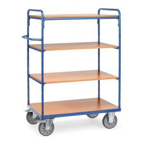 Fetra Chariot haut à plateaux Bleu - Charge 600 kg - 4 plateaux FETRA 8303 8201