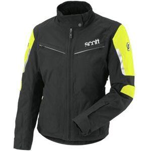 Scott WS Turn TP Veste de dames moto Textile Noir Jaune 40