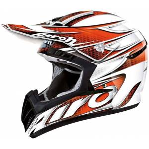 Airoh CR901 Linear Casque de motocross Blanc Orange S