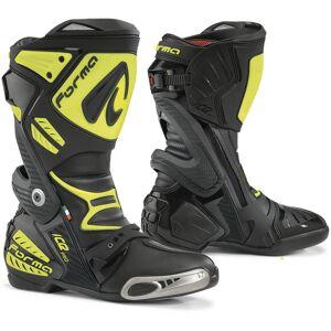Forma Ice Pro Bottes de moto Noir Jaune 42