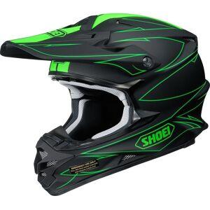Shoei VFX-W Hectic Casque de motocross Noir Vert XS