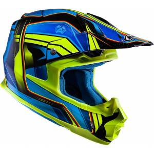 HJC FX-Cross Piston Casque MX Jaune Bleu M