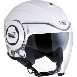 AGV City Fluid Garda Casque jet Blanc XL