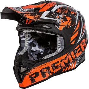 Premier Exige ZX 3 Motocross Helmet Casque Motocross Noir Orange XS