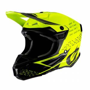 Oneal 5Series Polyacrylite Trace Casque Motocross Noir Jaune XL