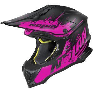 Nolan N53 Savannah Casque Motocross Noir Rose XS