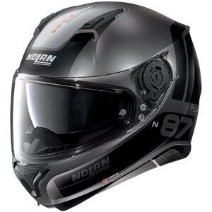 Nolan N87 Plus Distinctive N-Com Casque Noir Gris XL
