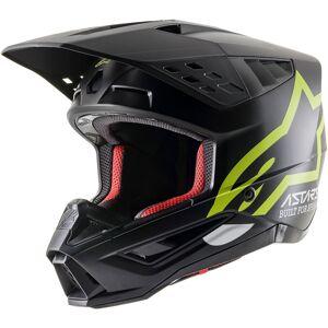 Alpinestars S-M5 Compass Casque de motocross Noir Jaune S