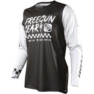 Freegun Devo Speed Maillot de Motocross pour enfants Noir Blanc 10 - 11