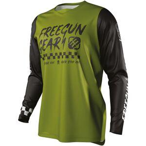 Freegun Devo Speed Maillot de Motocross pour enfants Vert 8 - 9