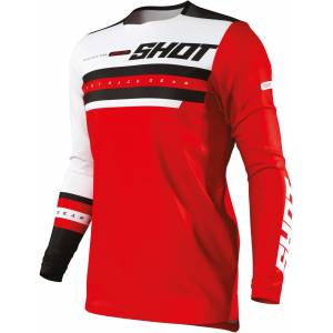 Shot Contact Shining Maillot motocross Rouge M
