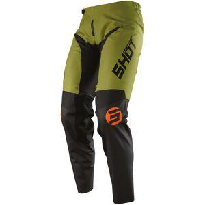Shot Devo Storm Pantalon Motocross Noir Vert 26