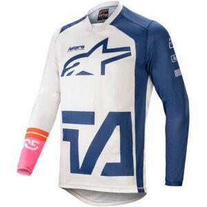 Alpinestars Racer Compass Maillot motocross Blanc Bleu M