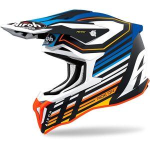 Airoh Strycker Shaded Carbon Casque Motocross Bleu XL
