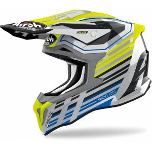 Airoh Strycker Shaded Carbon Casque Motocross Jaune XS