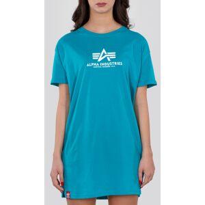 Alpha Industries Basic Chemise longue dames Turquoise S