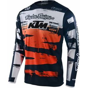 Troy Lee Designs GP Brushed Team Maillot de motocross Bleu Orange S
