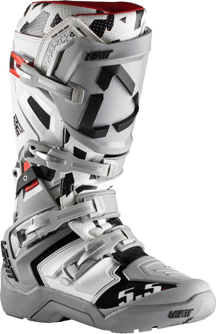Leatt Moto 5.5 Flexlock Enduro Bottes motocross Noir Gris Blanc 47