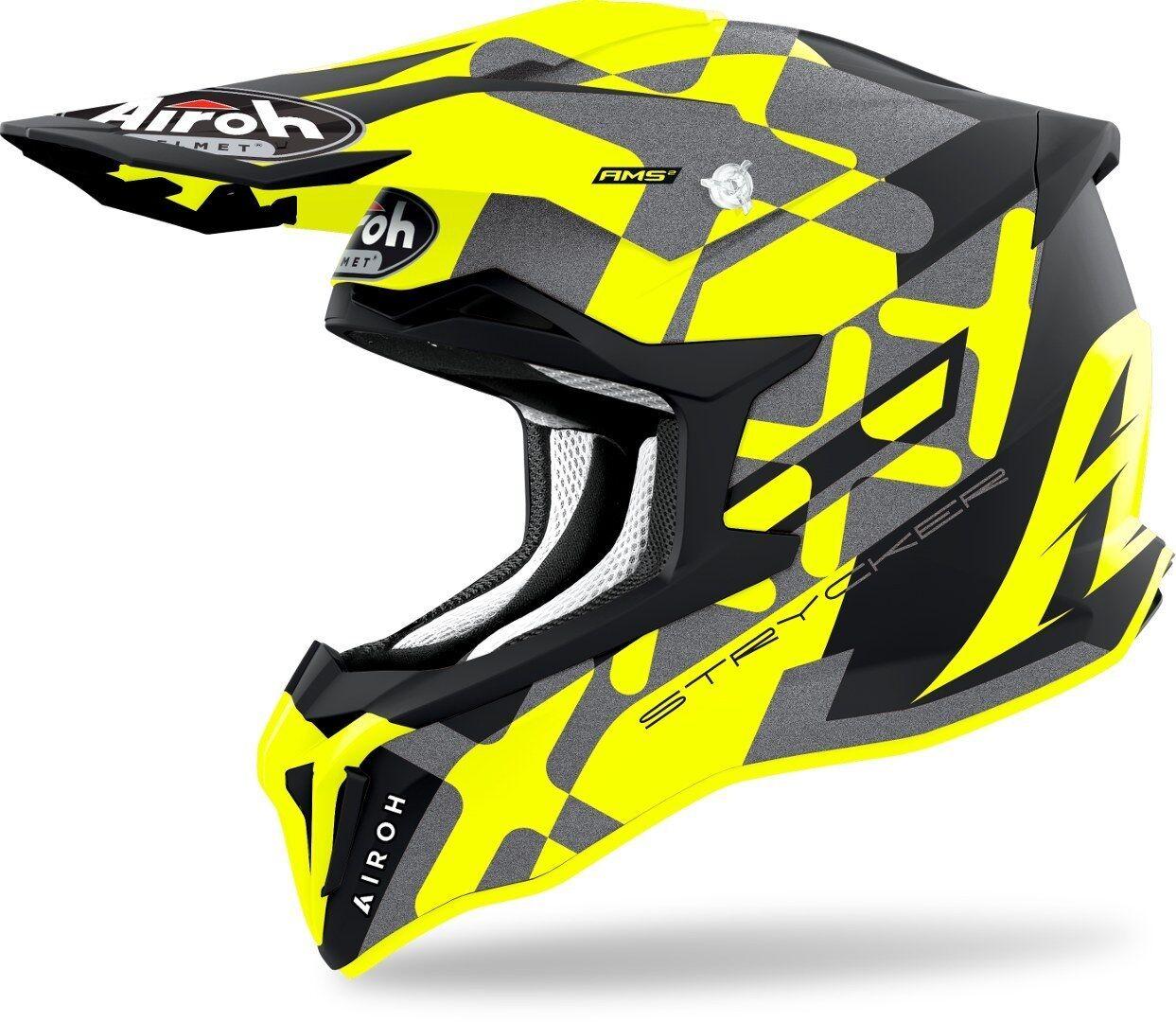 Airoh Strycker XXX Carbon Casque Motocross Jaune XL