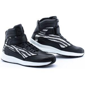 Stylmartin Audax Jungle Chaussures de moto pour dames Noir Blanc 37