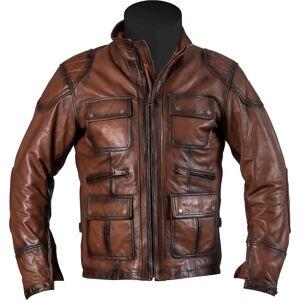 Helstons Hunt Rag Veste en cuir de moto Brun XL