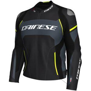 Dainese Racing 3 D-Air® Airbag Veste de moto en cuir Noir Gris Jaune 54