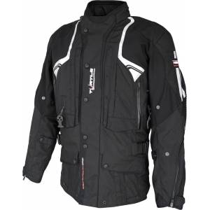 Helite Touring 2.0 Veste textile de moto d'airbag Noir 4XL