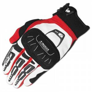Held Backflip Gants Motocross Blanc Rouge M