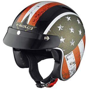Held Black Bob Conception de drapeau pour le casque jet Noir M