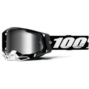 100% Racecraft II Lunettes de motocross Noir Blanc unique taille
