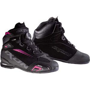 Ixon Bull WP L Ladies chaussures de moto Noir Rose 37