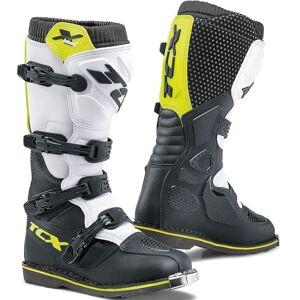 TCX X-Blast Bottes Motocross Noir Blanc Jaune 38
