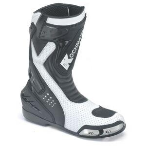 Kochmann Aragon Bottes de moto Noir Blanc 44