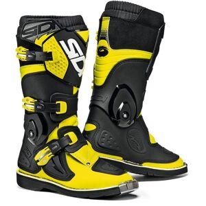 Sidi Flame Kids Motocross Boots Bottes De Motocross pour enfants Noir Jaune 38