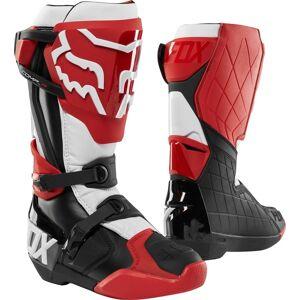 FOX Comp R Bottes de motocross Noir Blanc Rouge 49