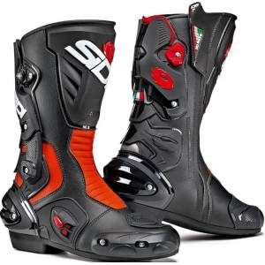 Sidi Vertigo 2 Motorcycle Boots Bottes de moto Noir Rouge 45